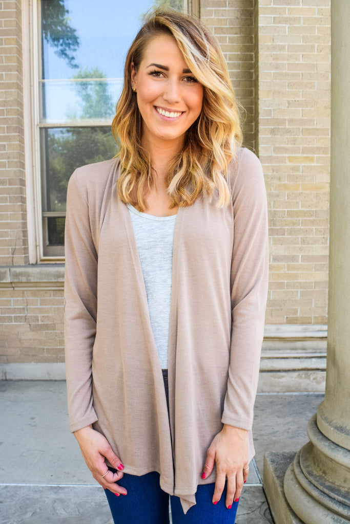 Colorado Chic Walk in the Park Cardigan Taupe