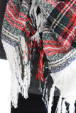 Falling Leaves Blanket Scarf Red