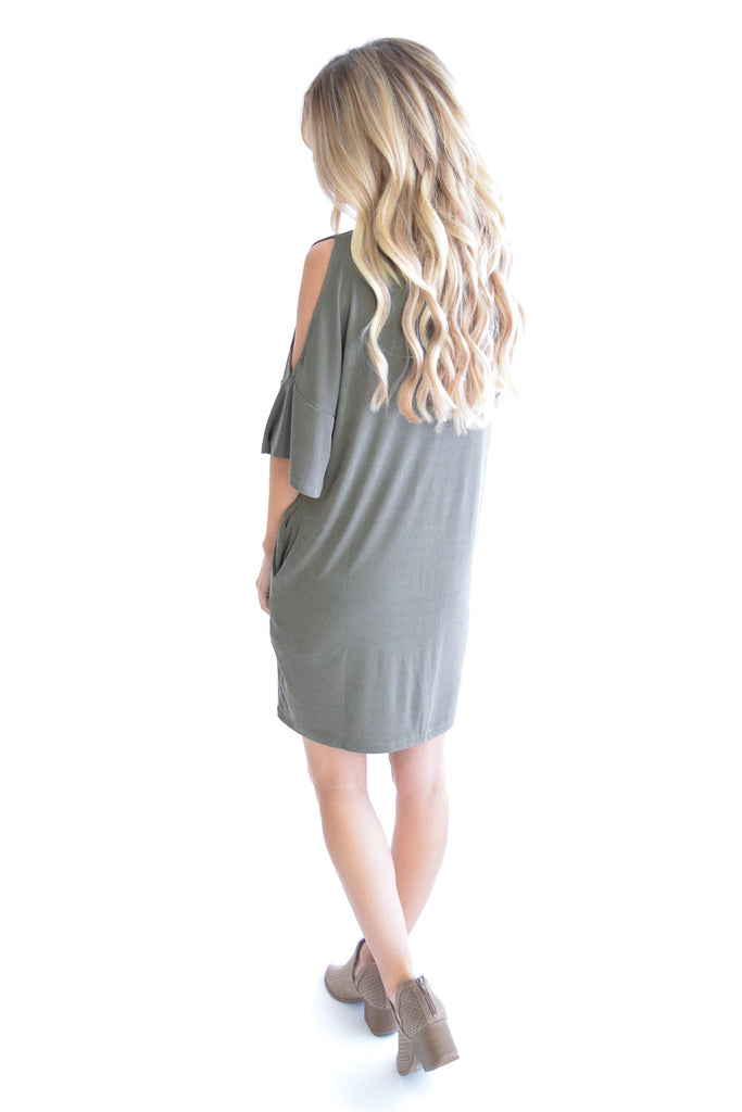 Mila Open Shoulder Dress