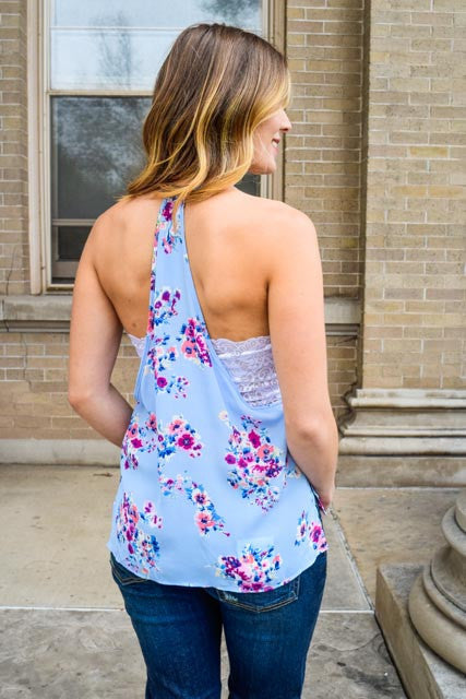 Cute open skies and blooming gardens tank top
