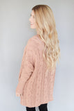 Whistler Cable Knit Sweater Dark Mauve
