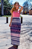 Cute feeling fine print maxi dress