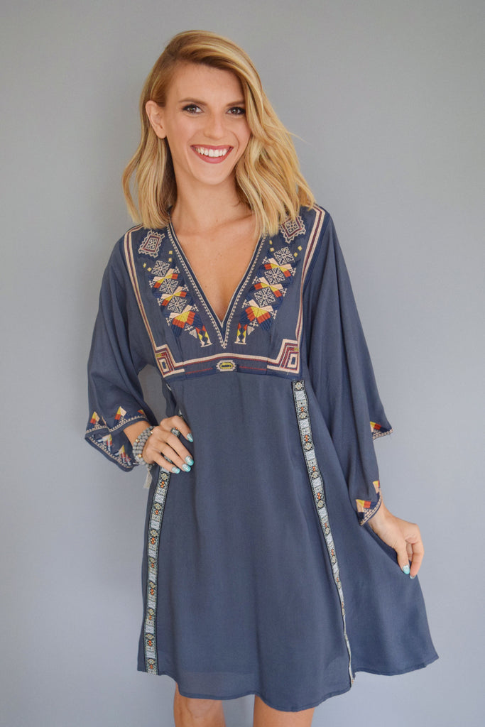 Affordable river bend embroidered dress