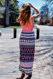 Cute Online feeling fine print maxi dress