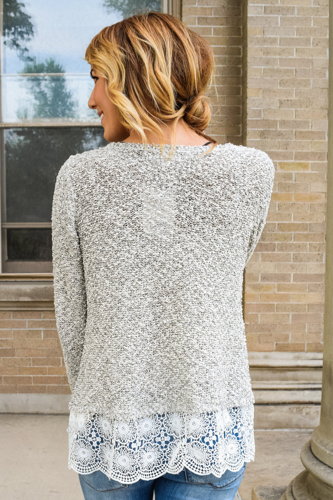 Trendy Online layered lace sweater