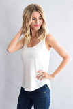 Festival Feather Tank White