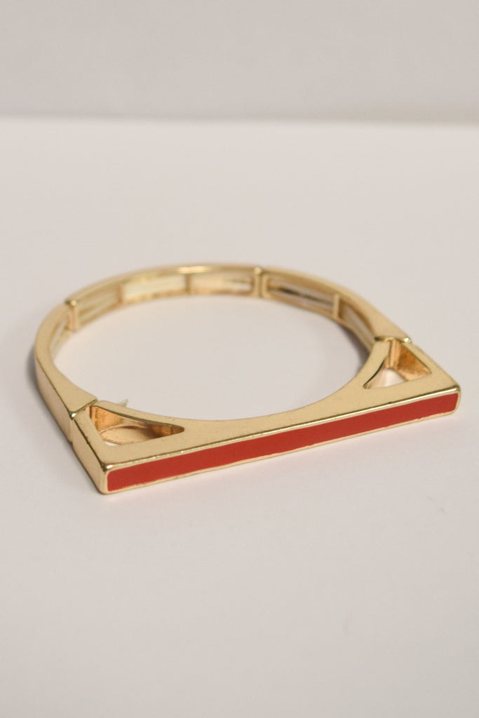 Affordable Red Bar Bracelet
