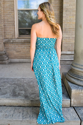 Cute Online sunlight dancing on the water maxi dress