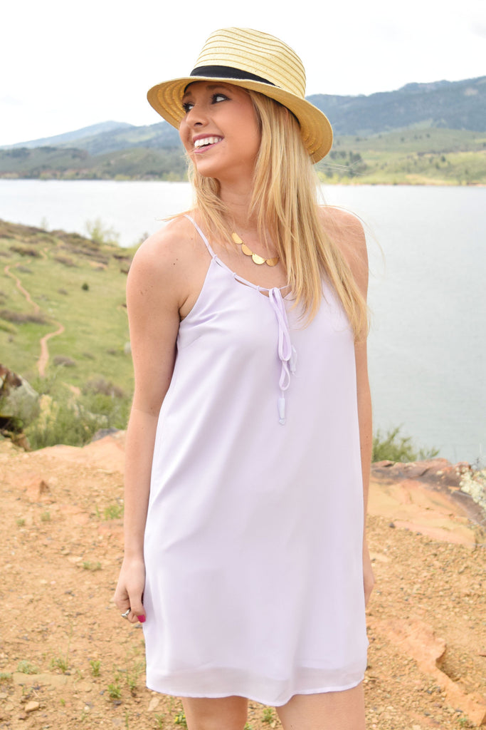 Cute Marrabell Tie Dress Lavender
