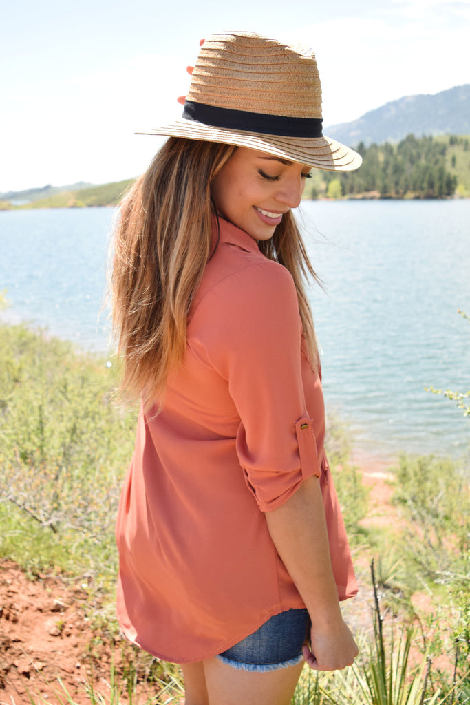 Cute Online colorado rose lace up top