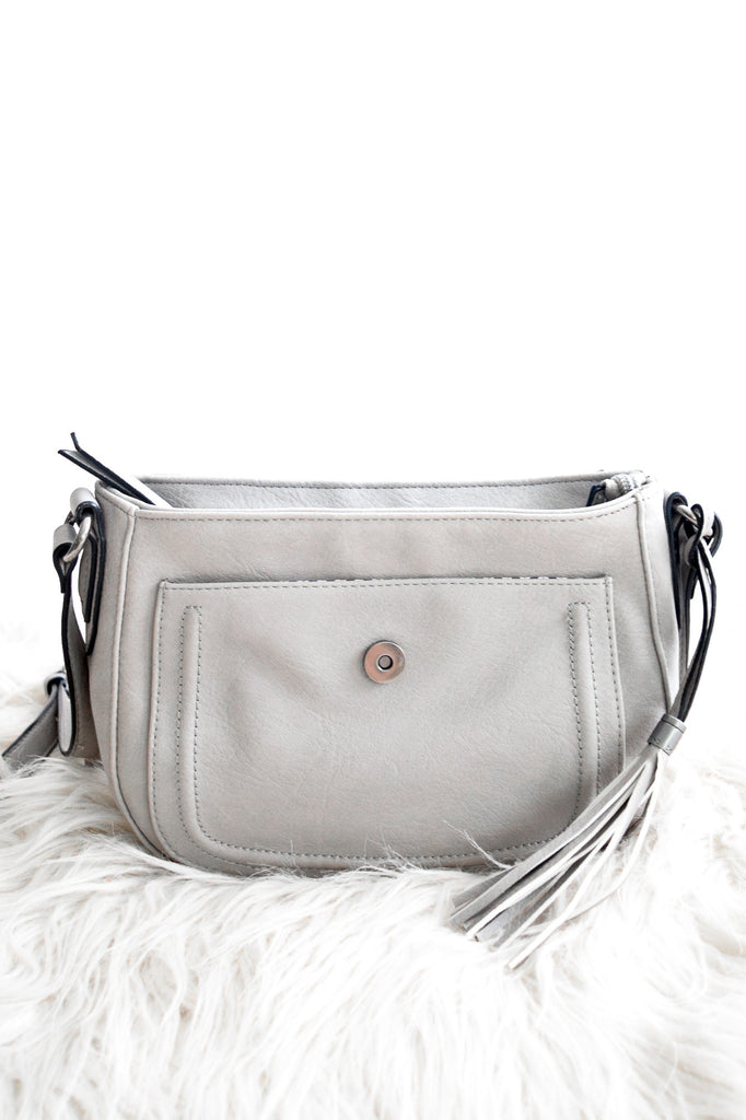 Sierra Crossbody Purse In Grey