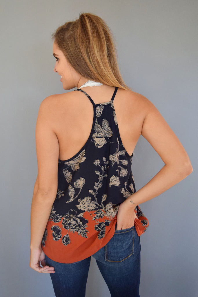 Affordable Online falling leaves printed tank
