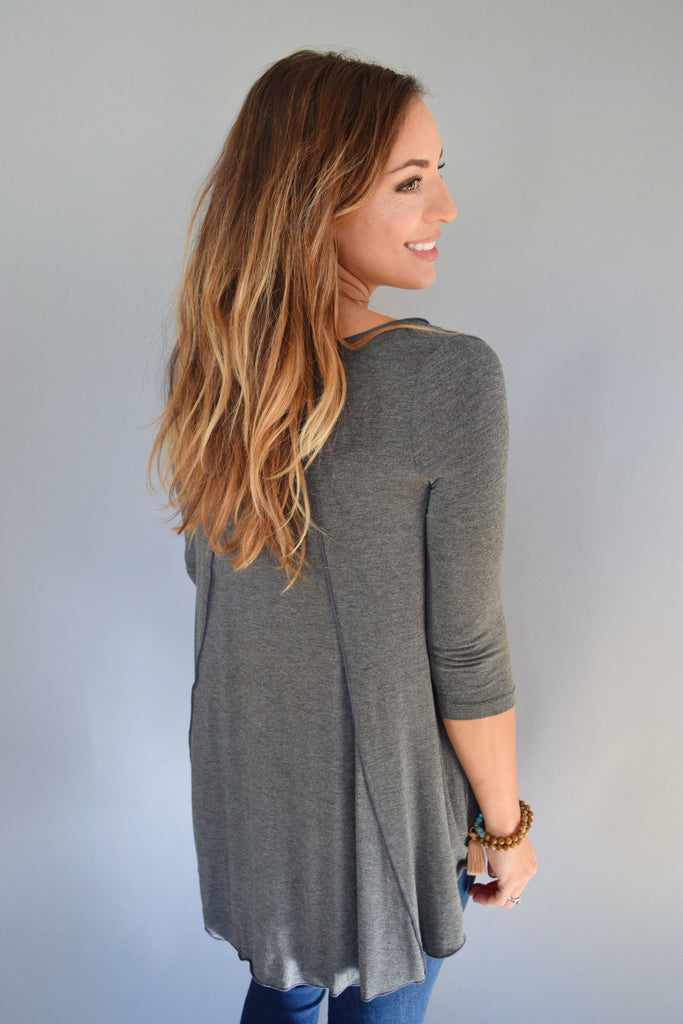 Cute Online gunnison relaxed top gray