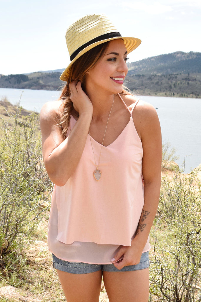 Colorado Chic highlands faux suede tank rose