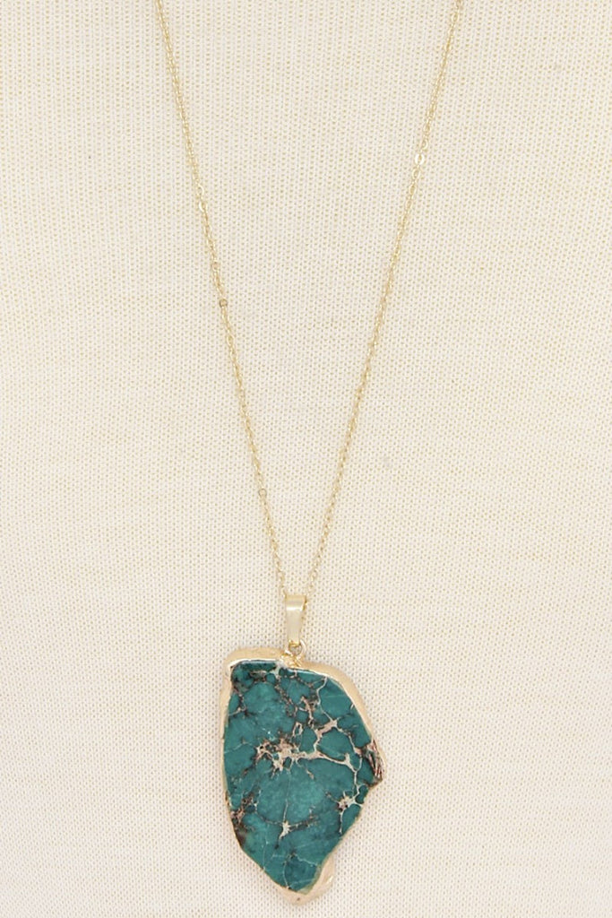 Affordable turquoise slice necklace