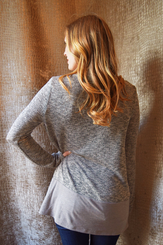 Affordable Online peppered taupe sweater