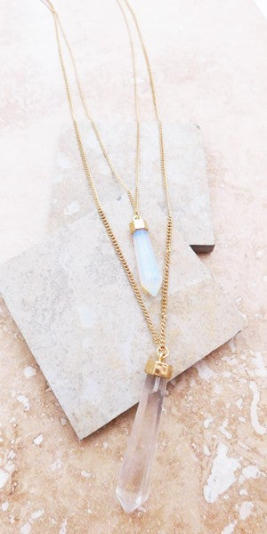 Chic layered crystals necklace