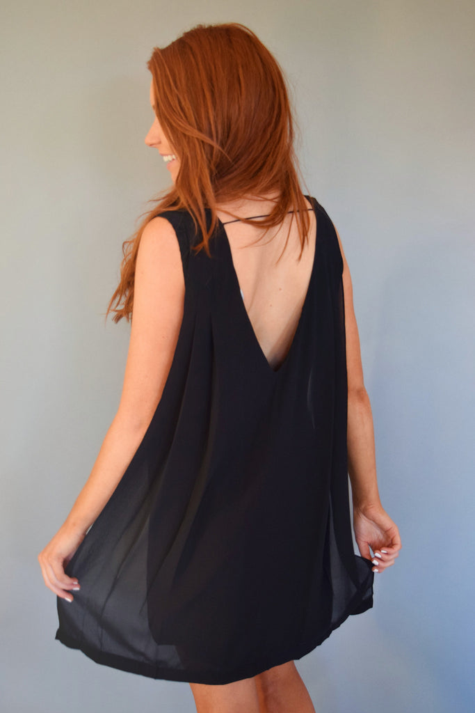 Trendy night out v neck chiffon dress