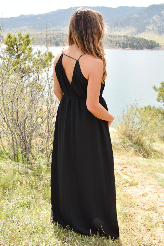 Cute Online over the moon maxi dress black
