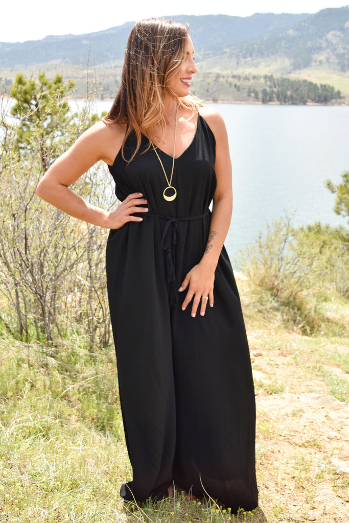 Trendy Online over the moon maxi dress black