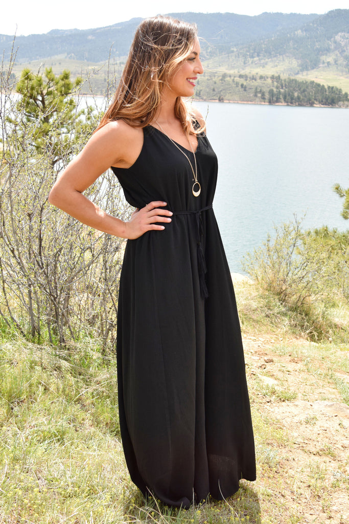 Cute Over the Moon Maxi Dress Black