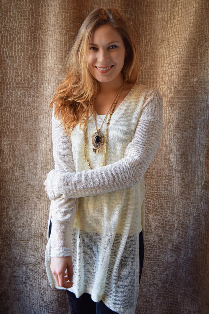 Affordable KNOCKOUT OPEN KNIT TUNIC