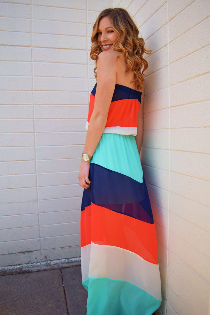 Trendy COMPOSED AND COLOR-BLOCKED DRESS