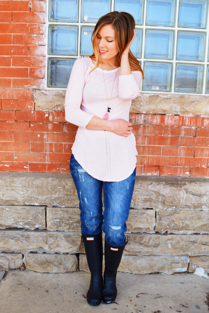 Affordable PRETTY IN PINK LONG SLEEVE TOP