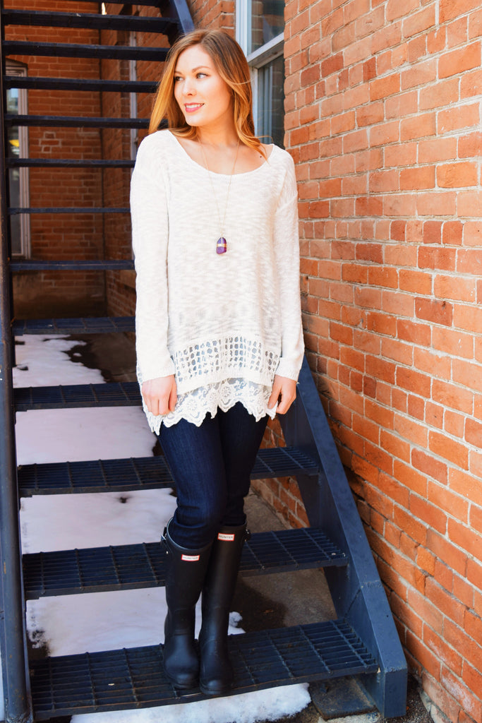 Affordable Online FALLING SNOWFLAKEs SWEATER