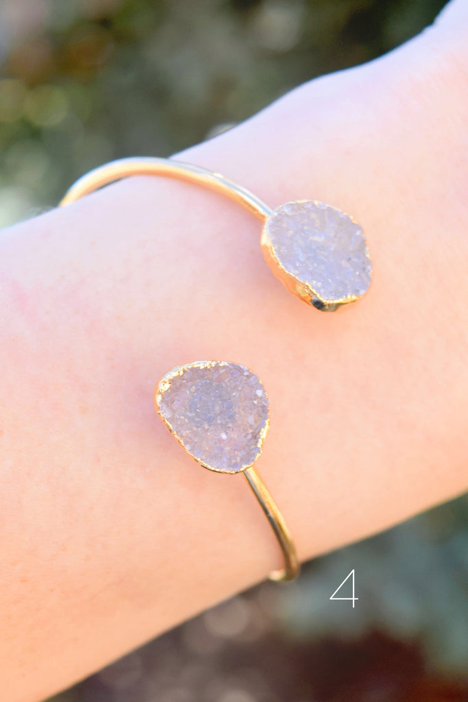 Affordable large druzy circle cuff