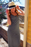 Womens Clothing Spring Stripes Maxi Dress