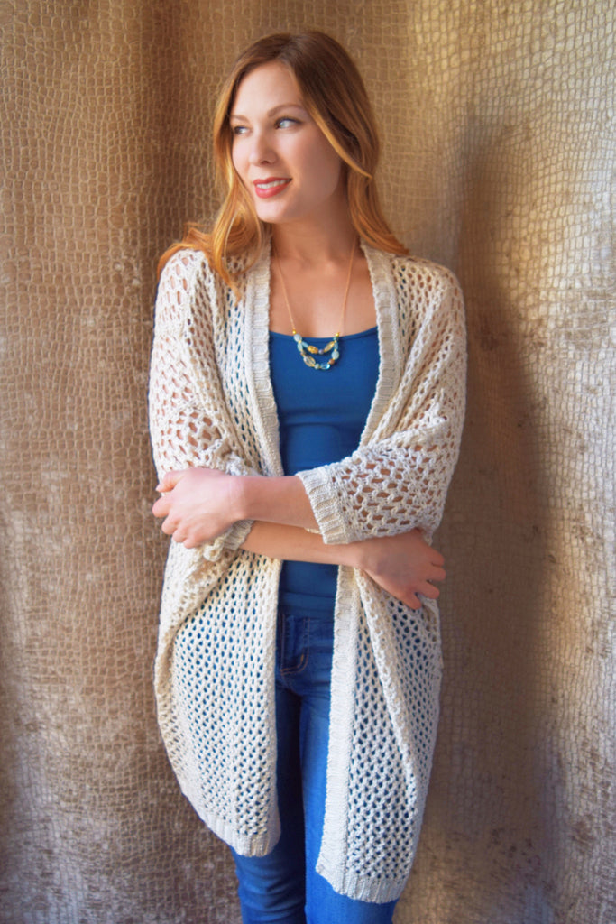 Colorado Chic open knit overlay