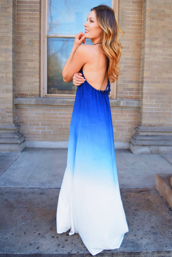 Colorado Chic HIGH TIDE NAVY OMBRE DRESS