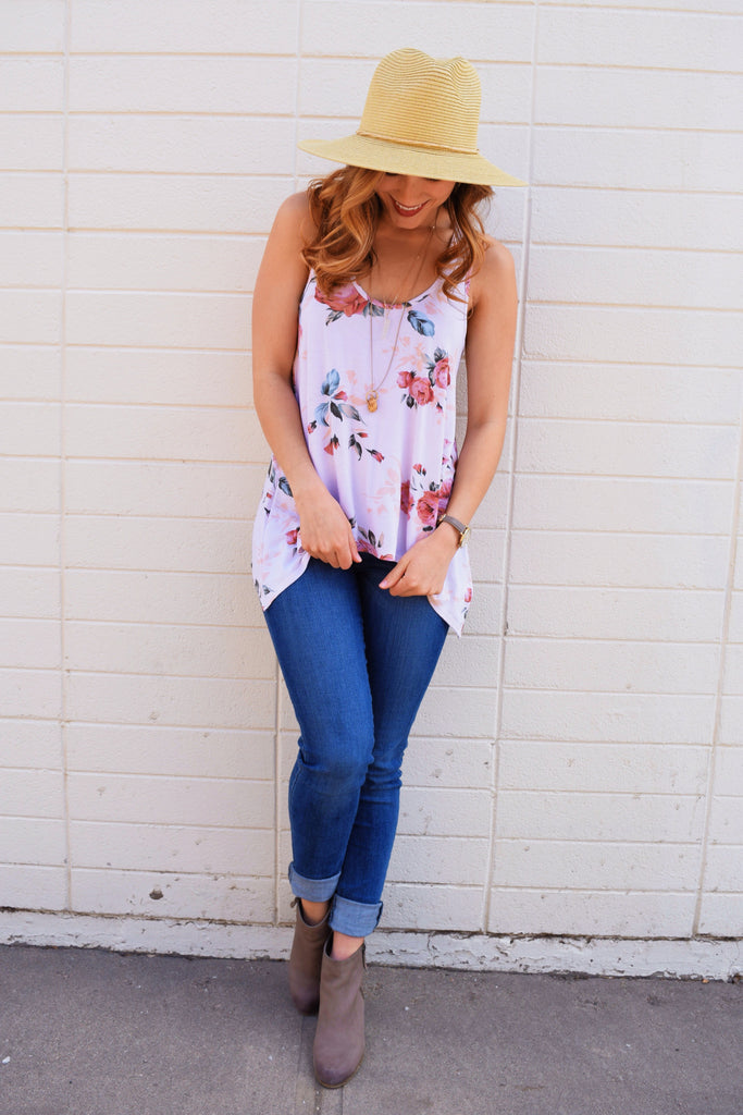Womens Clothing prim as a rose tank