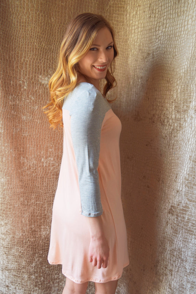 Colorado Chic pink and grey tunic dress