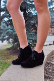 Womens Online short black wedge