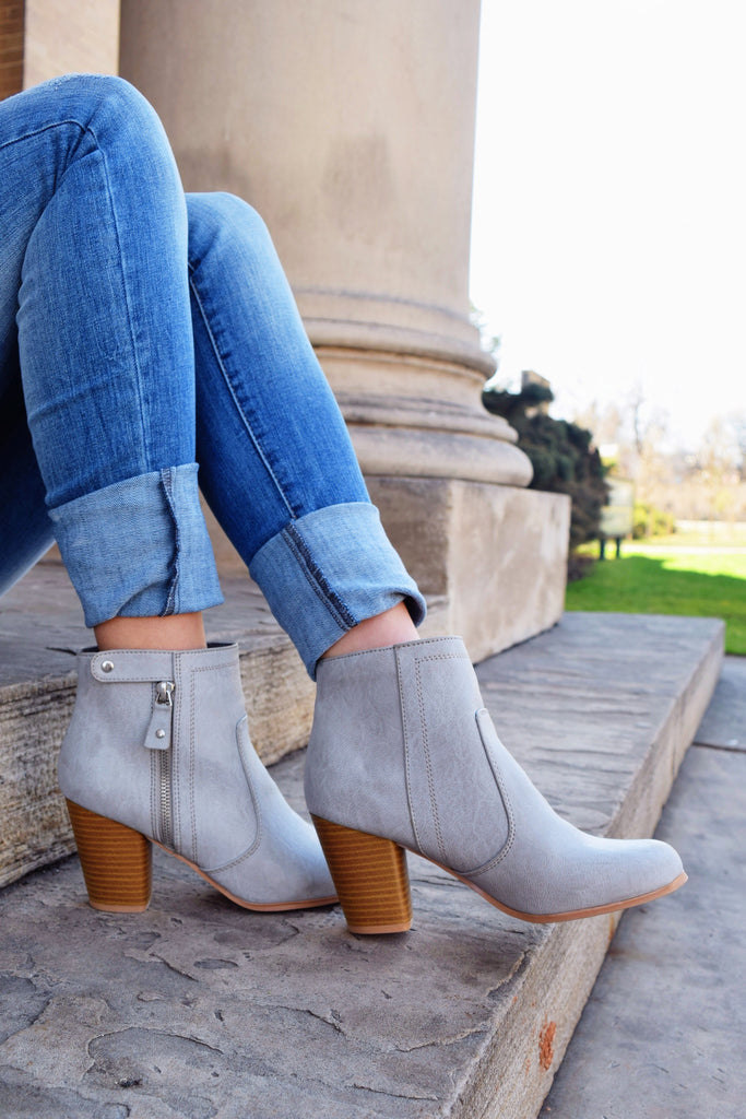 Colorado Chic walking in the clouds grey bootie