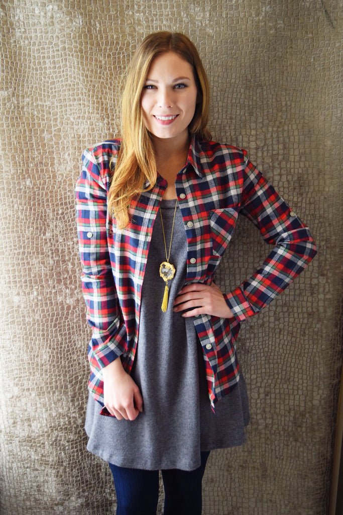 Womens Boutique PRETTY IN PLAID TOP