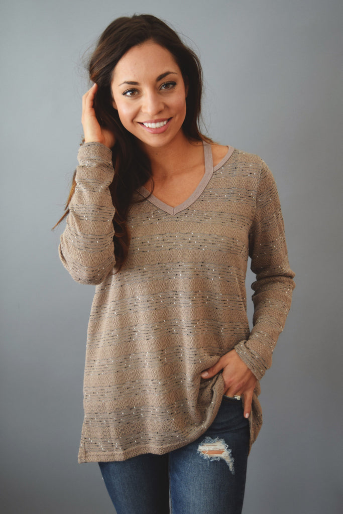 Womens Clothing sagebrush cutout sweater mocha