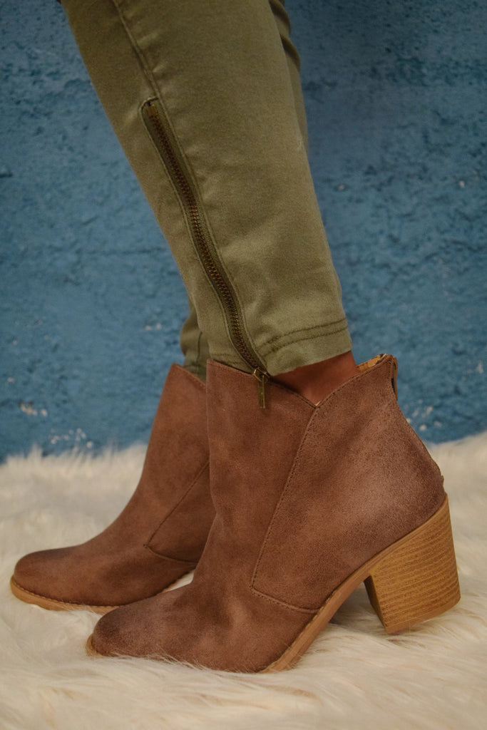 Cute Online Skyline Taupe Bootie