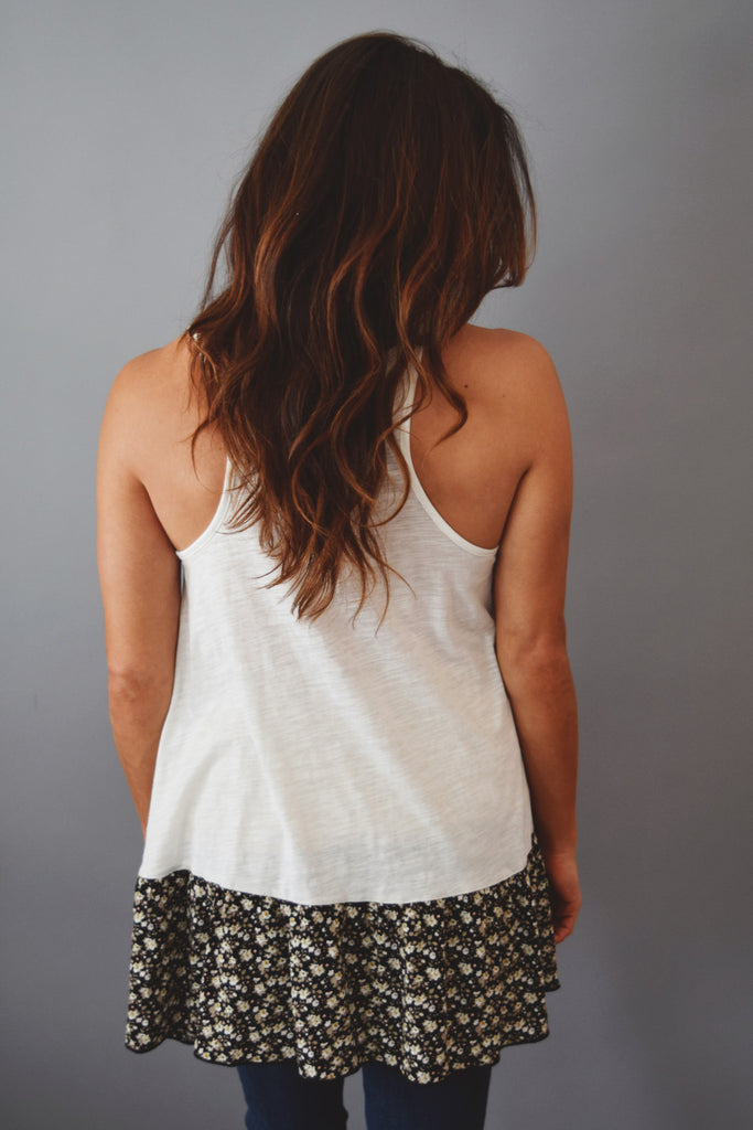 Cute Online spring breeze tank ivory
