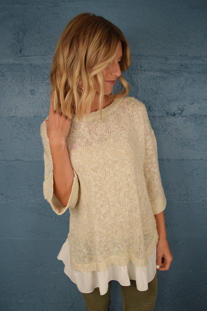 Affordable Sweet As Can Be Dolman Sweater
