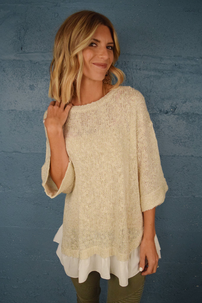 Womens Online sweet as can be dolman sweater