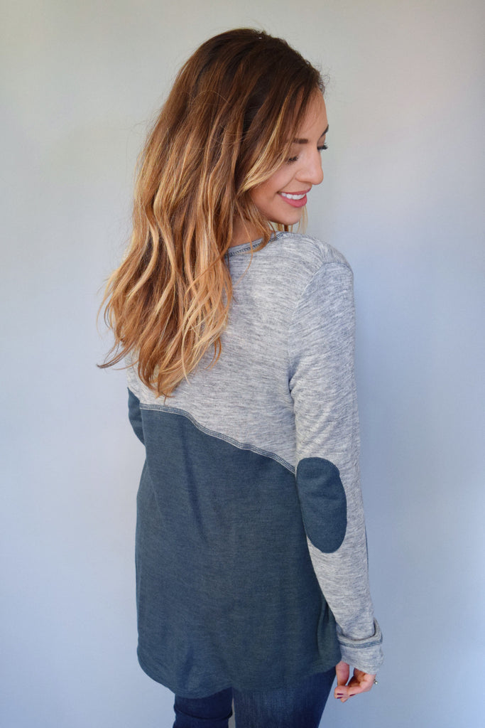 Affordable Online teal patch top