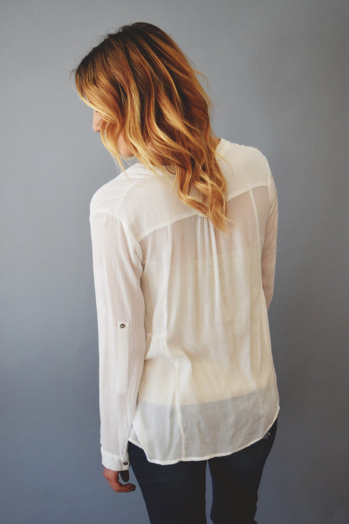 Affordable in the clouds v neck top