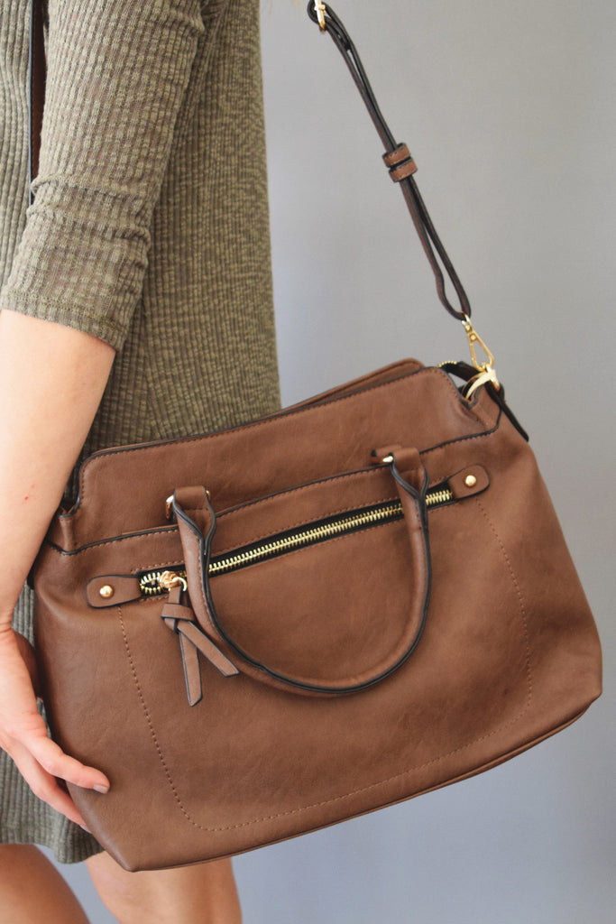 Trendy West End Brown Shoulder Bag