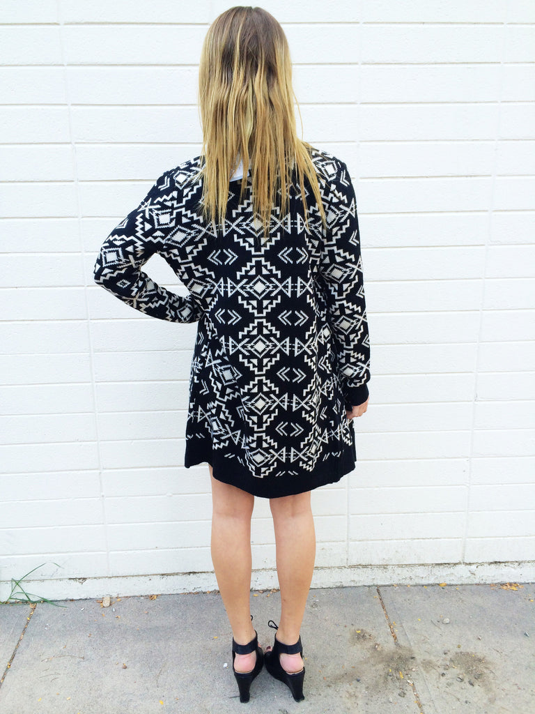 Trendy Online geo gem knit cardigan