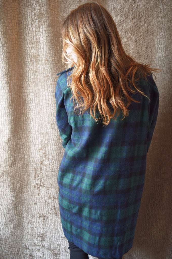 Cute plaid sweater dress