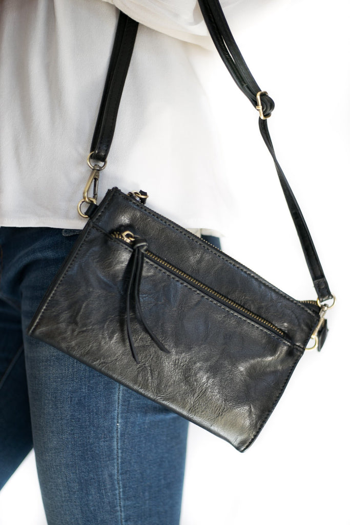 Cece Vintage Crossbody In Black