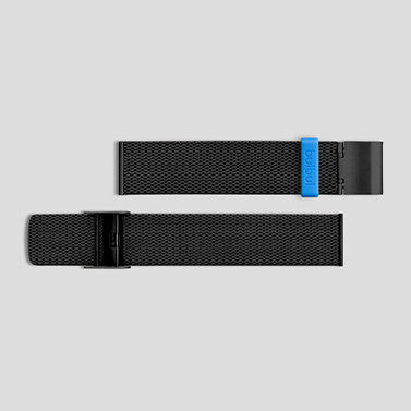 Black Milanese Meshband for Pebble / Ore / Oblong